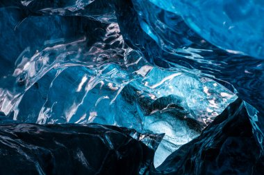 Inside an icecave in Vatnajokull, Iceland, the ice is thousands of years old and so packed it is harder than steel and crystal clear. These caves are formed by meltwater that rushes from over and underneath the glacier and creates these wonderful sig stock vector