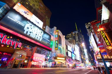 New York 42nd street at night