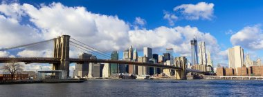 Brooklyn Bridge and Manhattan panorama