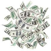 létající amerických dolarů