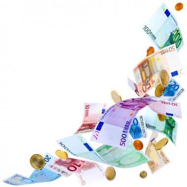 Flying Euro money