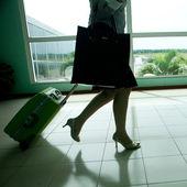 tašky na letišti, motion blur