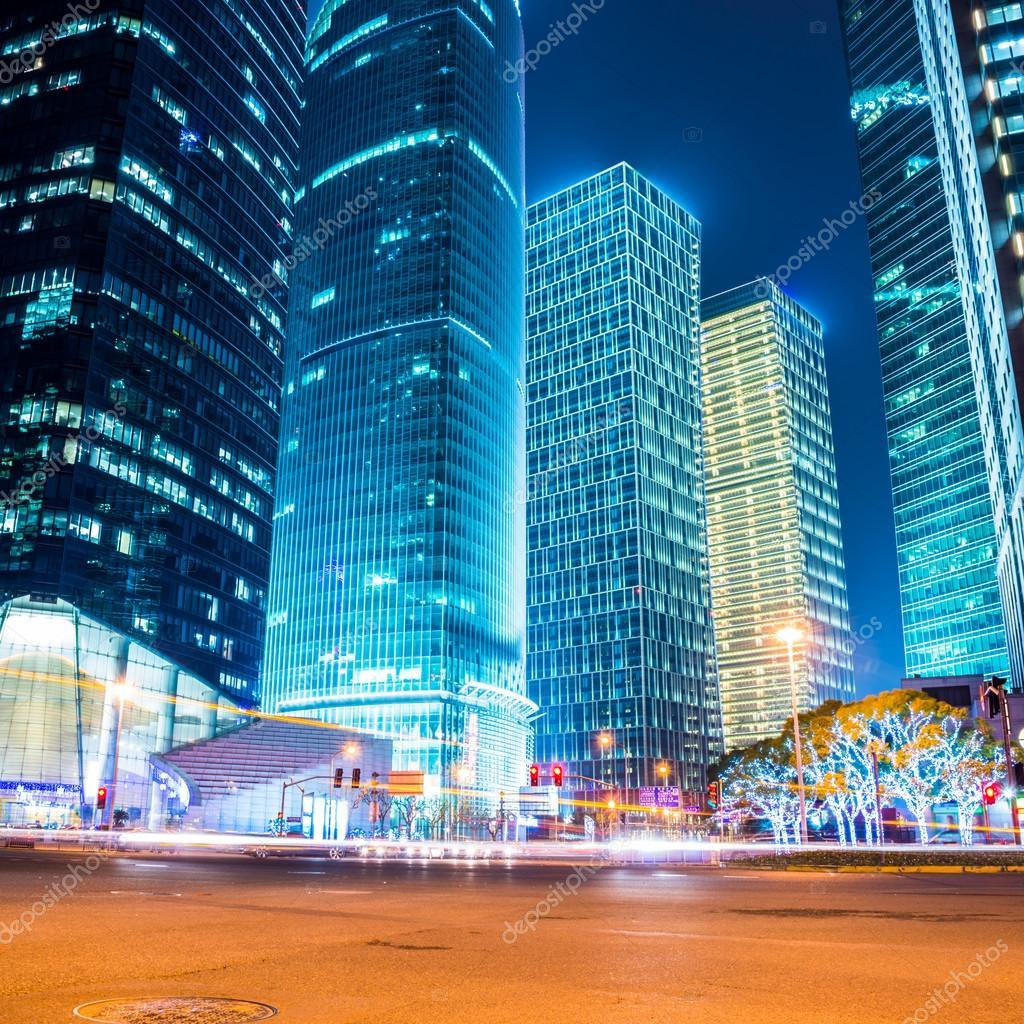 Фотообои ночная сцена современного города
