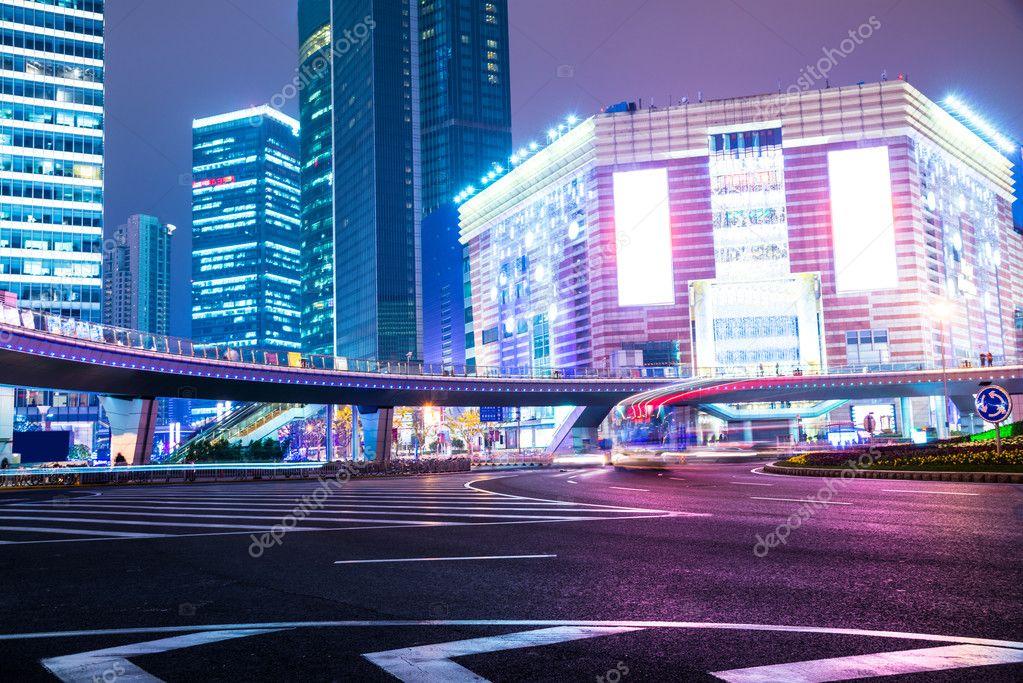 Фотообои night scene of modern city