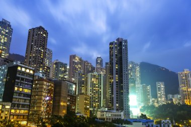 The modern buildings of the city skyscrapers in Hongkong