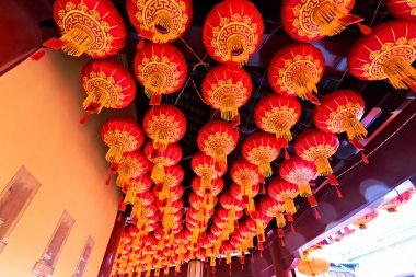 Abstract Ceiling Design in an Oriental Temple