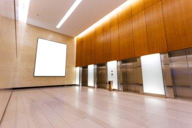 Empty corridor in the modern office building stock vector