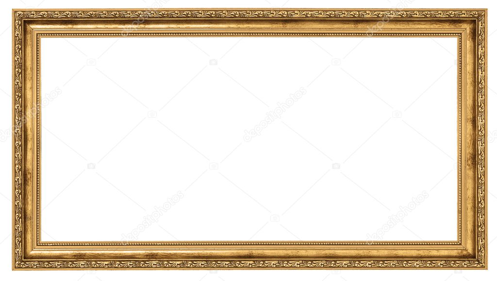 Extremely long golden frame