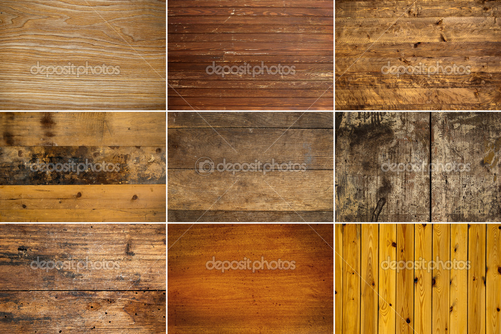 Collection of wooden texture