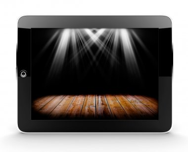 Tablet with lights