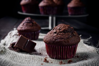 Sweet chocolate muffin