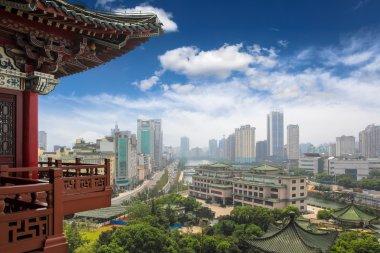 Nanchang scenery,view from the tengwang pavilion,China stock vector