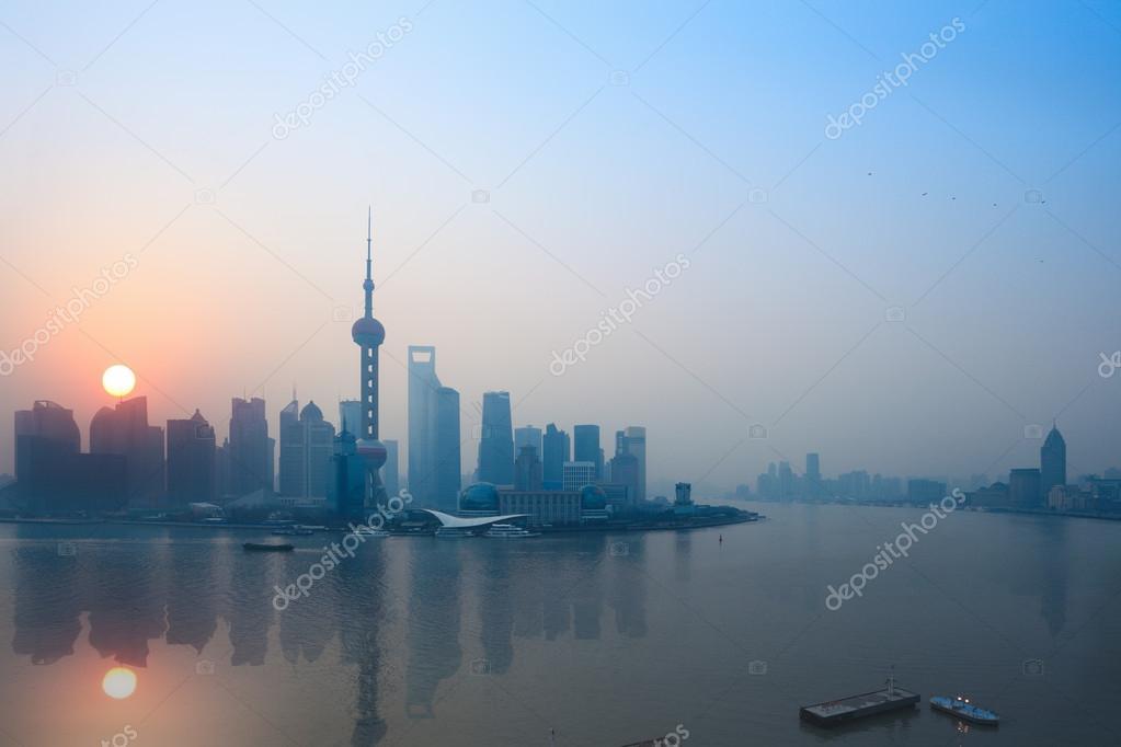 Shanghai in sunrise