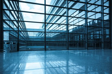 Bright window and glass curtain wall