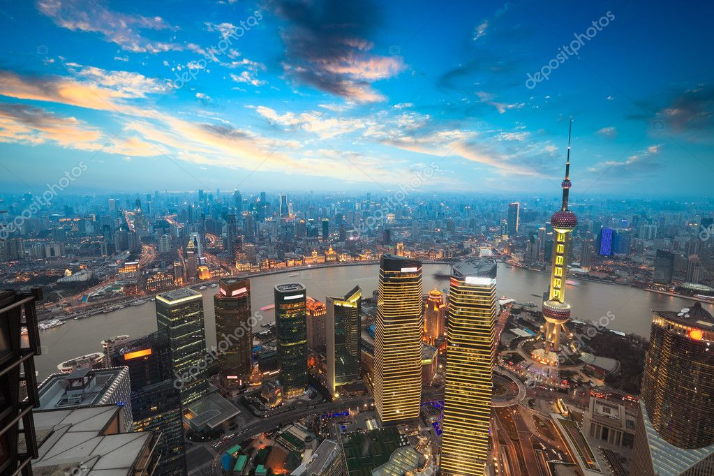 Фотообои shanghai in sunset