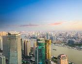 Veduta aerea di edifici moderni ufficio di shanghai