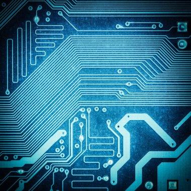 Circuit board texture closeup ,tech industrial electronic backgroun stock vector