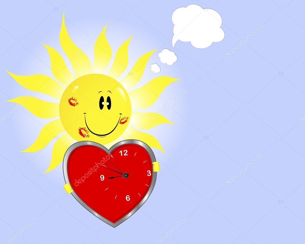 Открытки сердце и солнышко, подарок
