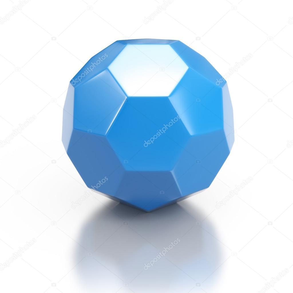 Favorit forme géométrique 3d bleu — Photo #13200775 DF56