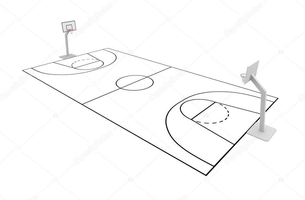 terrain de basket photographie 21696637. Black Bedroom Furniture Sets. Home Design Ideas