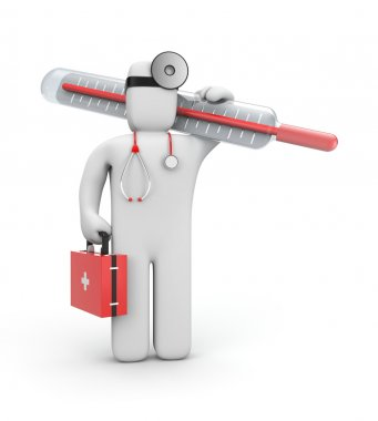 Doctor with thermometer