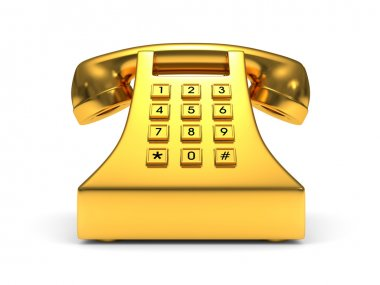 Gold phone stock vector