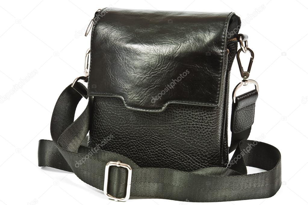 426581d8 Small black leather bag men — Stock Photo © kocetoilief #50566673