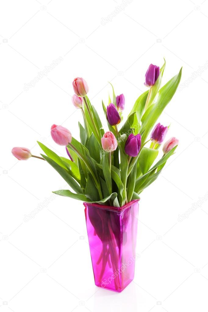 Bouquet Of Pink Dutch Tulips In Vase Stock Photo Sannie32 43148675
