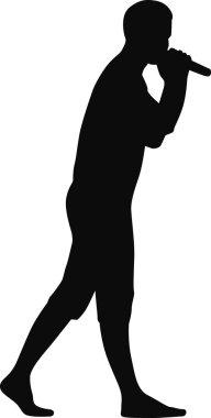 singer silhouette vector