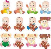 kolekce baby vektorů