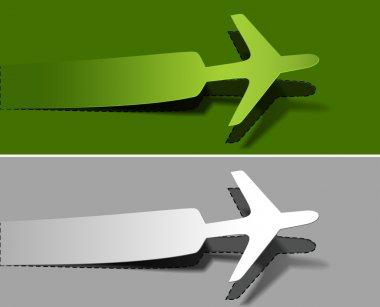 vector label airplanes