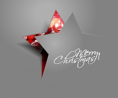 Modern christmas star background