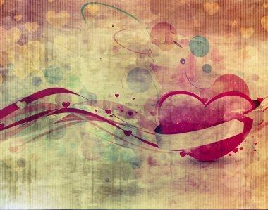 Valentines Day Heart on grunge texture background clip art vector