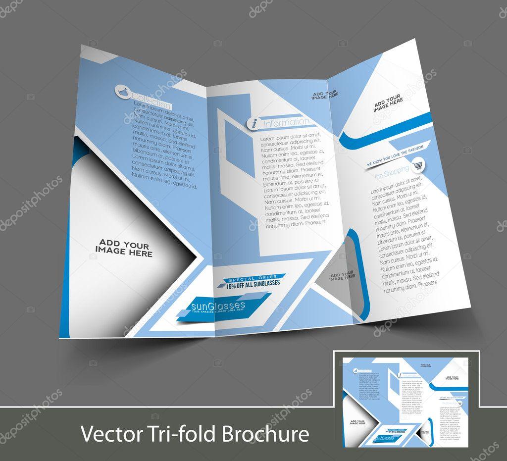 Vector Optician Sunglasses Store Brochure Design Template