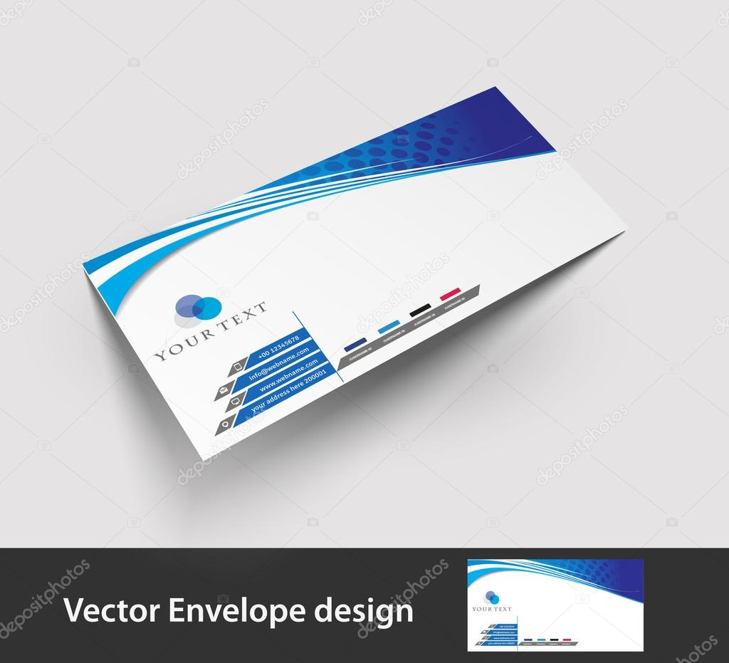 Paper envelope templates for your project design, vector illustration.