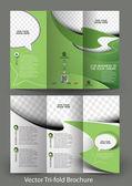 Fotografia Tri-Fold Corporate Business Store Mock up  Brochure Design