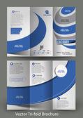Tri-Fold Corporate Business Store Modell  Broschüre Design