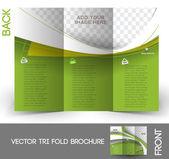 Dreifachfaltung Immobilienmakler mock-up  Broschüre design