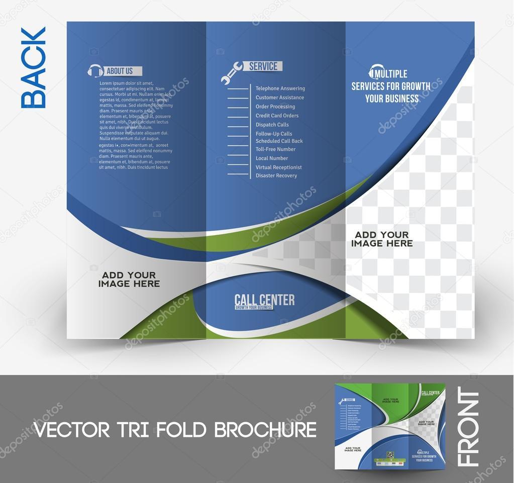 Tri-Fold Call Center Mock up & Brochure Design