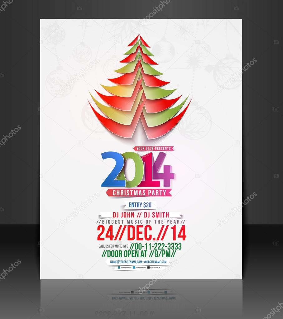 Christmas U0026 New Year Flyer Magazine Cover U0026 Poster Template ...