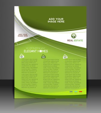 Vector Real Estate Agent Flyer & Poster Template