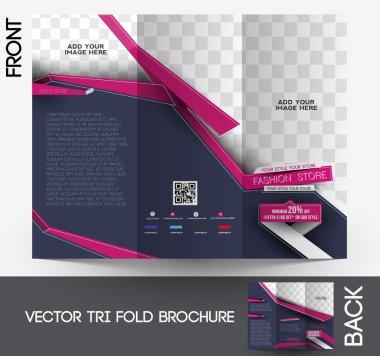 три раза моды брошюра дизайн Векторный illustartion