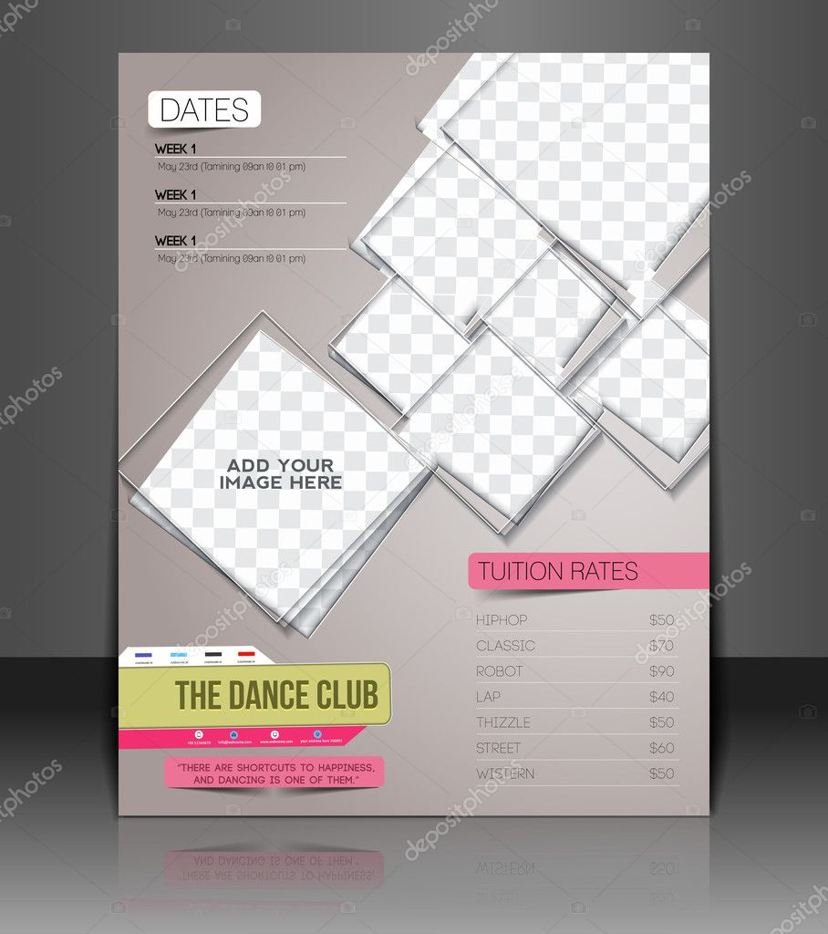 Tanz Club Flyer & Poster Cover Vorlage — Stockvektor ...