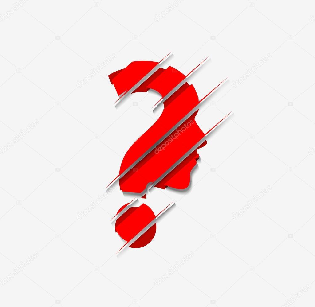 Vector symbol of question mark