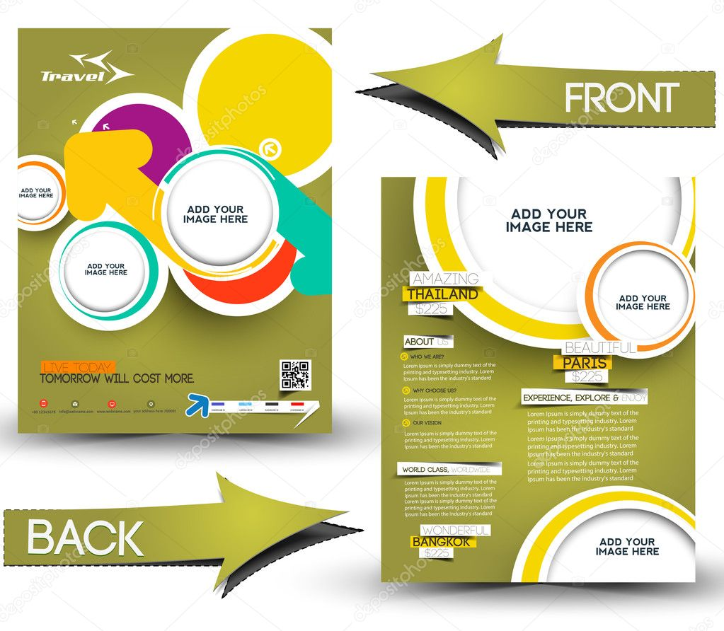 Travel Front & Back Flyer Template