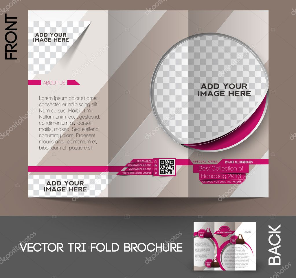Bag Store Tri-Fold Mock up & Brochure Design