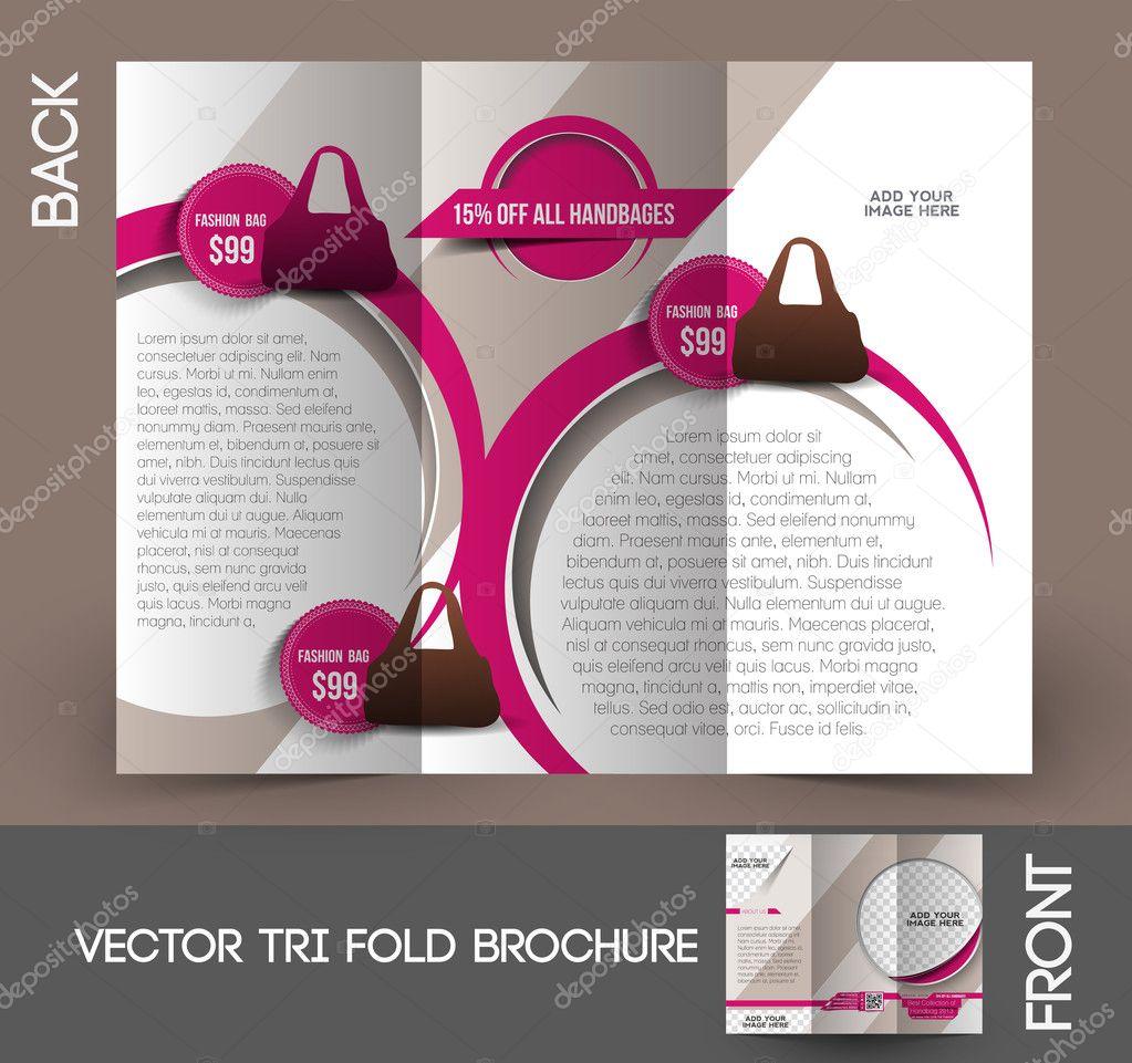 Bag Store Tri-Fold Mock up & Brochure Design