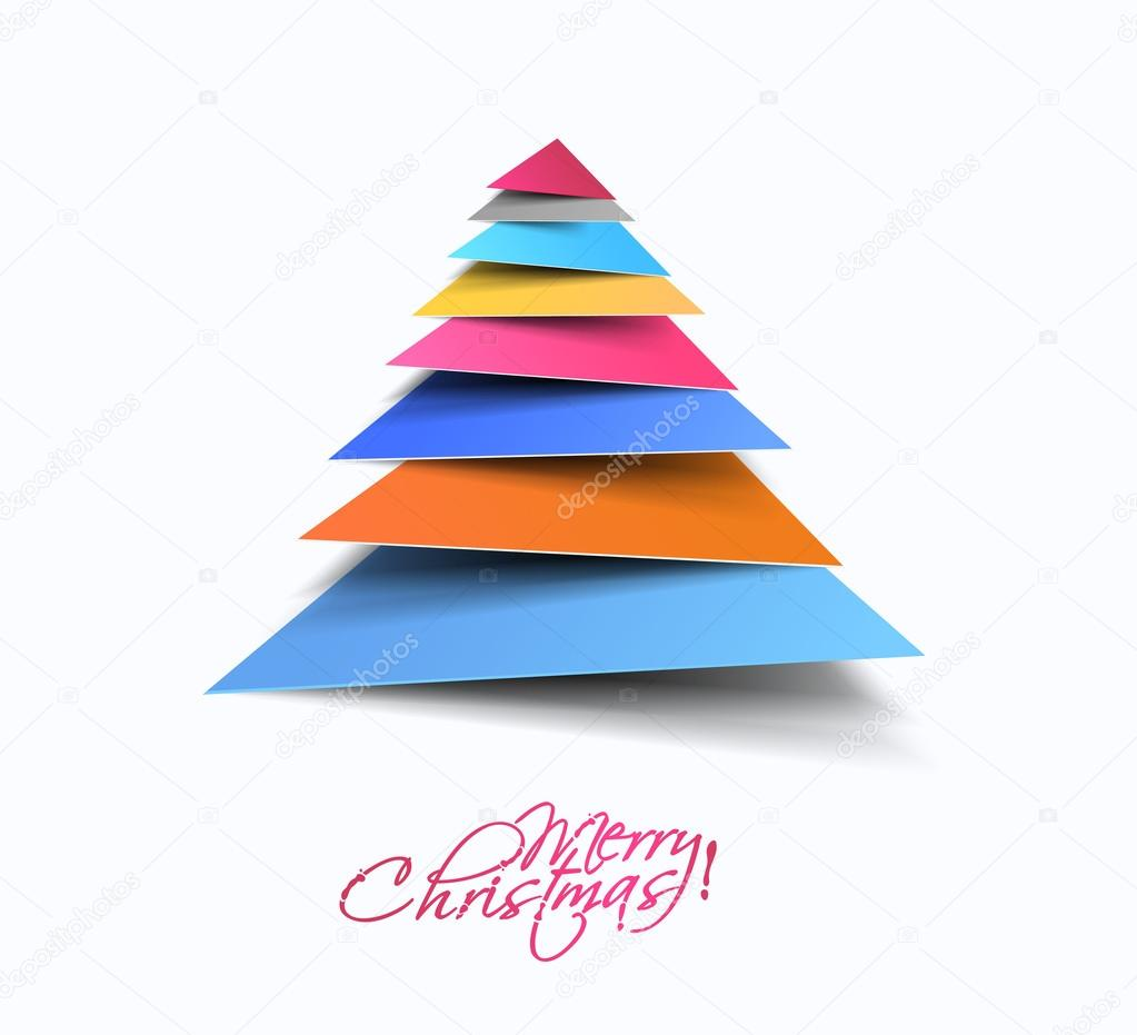 Modern Christmas Tree Background, Vector Illustration ...