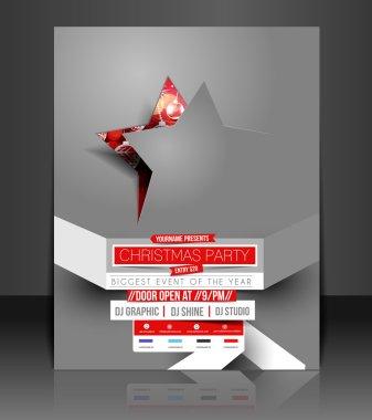 Vector Christmas Flyer Magazine Cover & Poster Template clip art vector