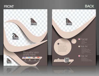 Beauty Care & Salon Front & Back Flyer & poster Template